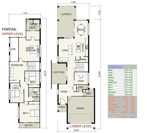 modern narrow lot house plans  foxtail small lot house