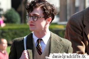 Daniel Radcliffe filming Kill Your Darlings at Columbia University