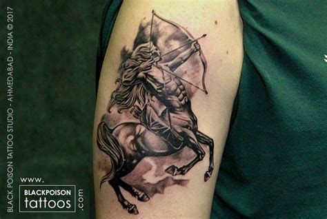 sagittarius sign tattoo  tattoo studio  india black