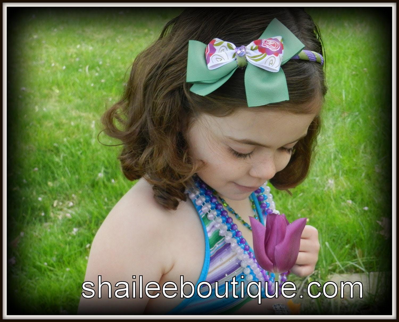 Girl Floral Print Headband GHB1343