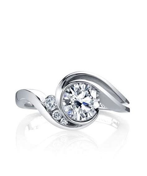 Mark Schneider Splendid Bypass Bezel Diamond Engagement