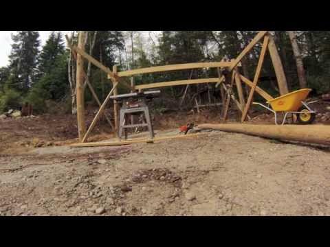 Beach Wood Timber Frame Carport Build Part 1 - YouTube