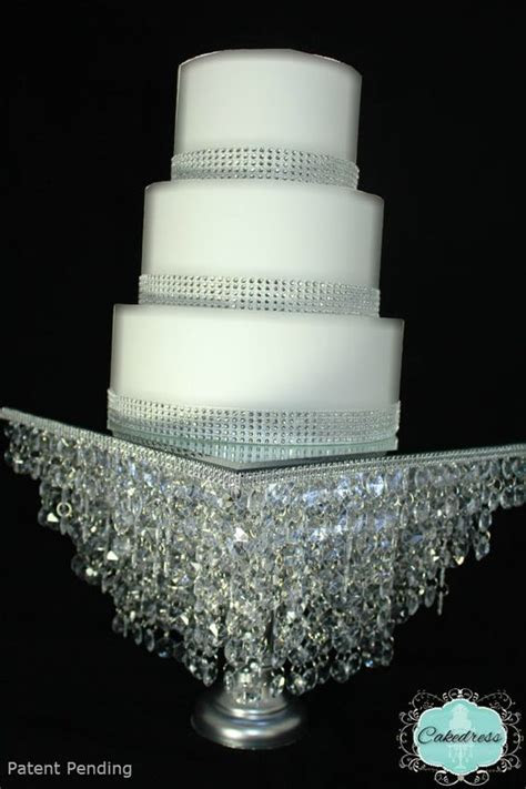 Crystal wedding, Cake stands and Wedding cake stands on