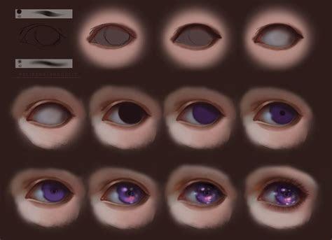semi realism eyes step  step  felicemelancholie