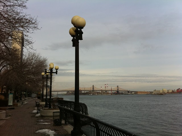 East River walk near E. 35th St.