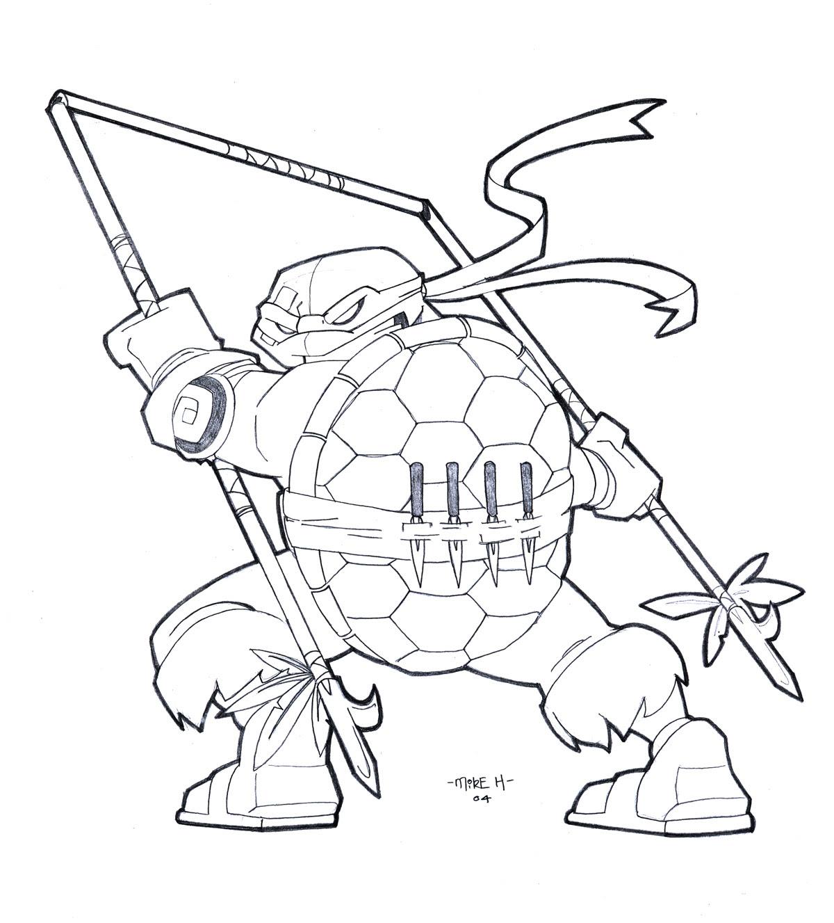 Dessin de tortue ninja