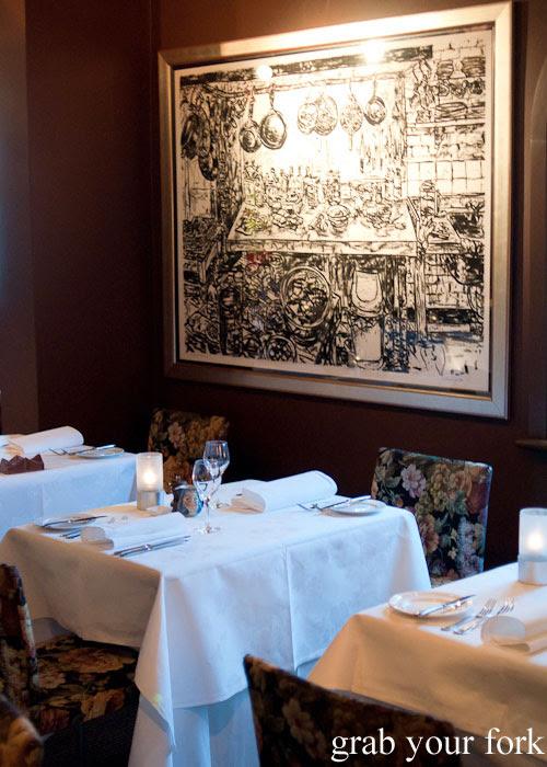 Dining room at Buon Ricordo, Paddington