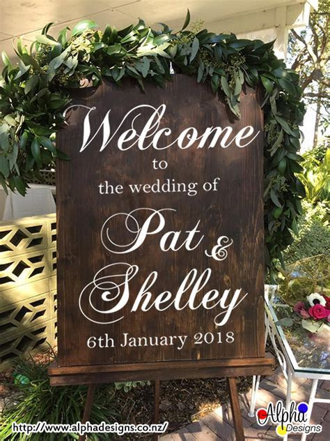Event Decal ? Personalized Wedding Welcome Sign Names and