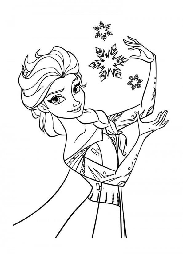 Elsa Magicienne Est Un Coloriage De La Reine Des Neiges