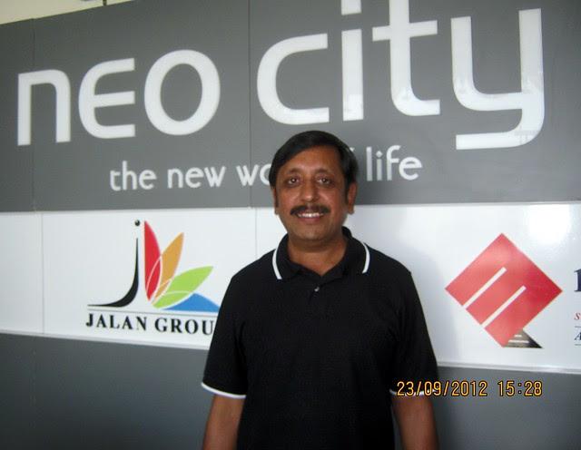 Vijay Jalan at the site of Neo City - Phase 3, 2 BHK Flats, behind Jain College Bakori Road, Wagholi, Pune 412207