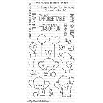 My Favorite Things ADORABLE ELEPHANTS Clear Stamps BB28