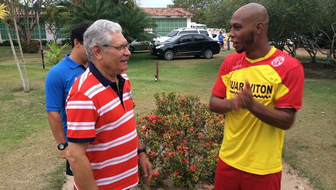 Maeterlinck Rego Flávio Boaventura América-RN (Foto: Jocaff Souza/GloboEsporte.com)