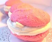 Southern Pink Velvet 1/2 dozen  Cookies