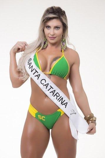 Luciane Hoepers, representante de Santa Catarina, conhecida como musa do crime, está na final do concursoQuem deve ganhar o Miss Bumbum 2015? Vote nas 15 finalistas
