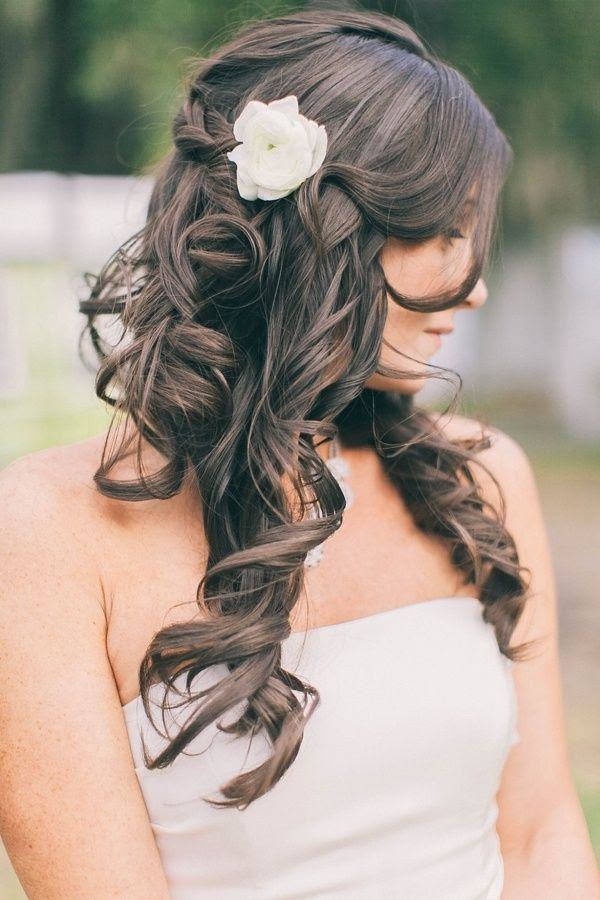 35 Half Up Half Down Wedding Hairstyles For Long Hair - Wohh Wedding
