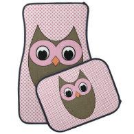 Cute Brown Owl Floor Mats