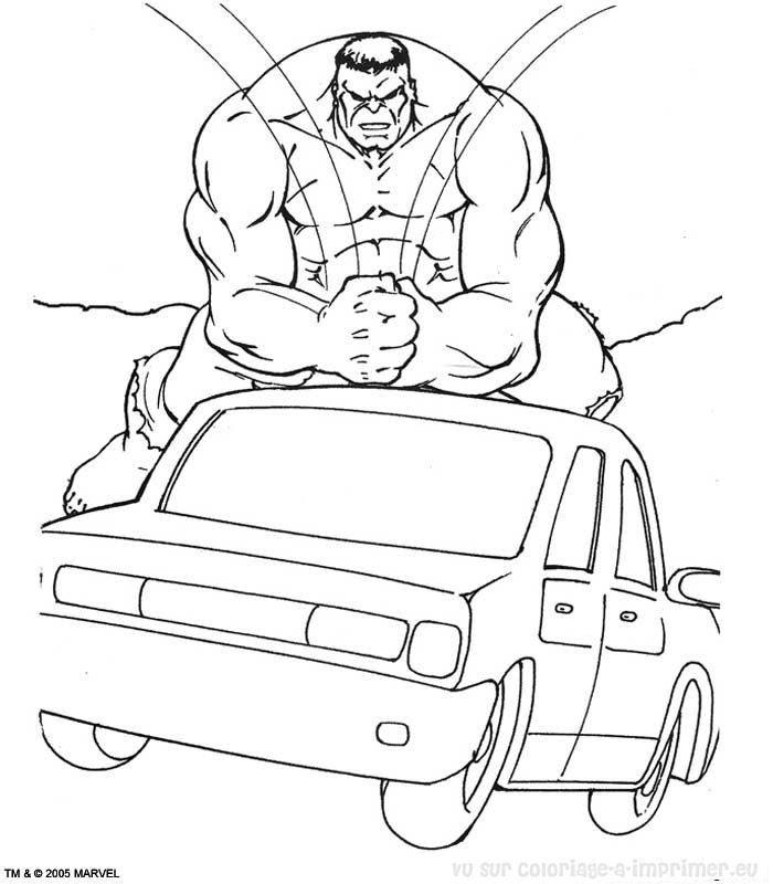 Coloriage à Imprimer Coloriage Hulk 050