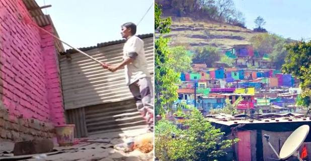 The 'Misaal Mumbai' initiative by Rouble Nagi is aiming to bring a change in mindset by painting slum areas in Pune