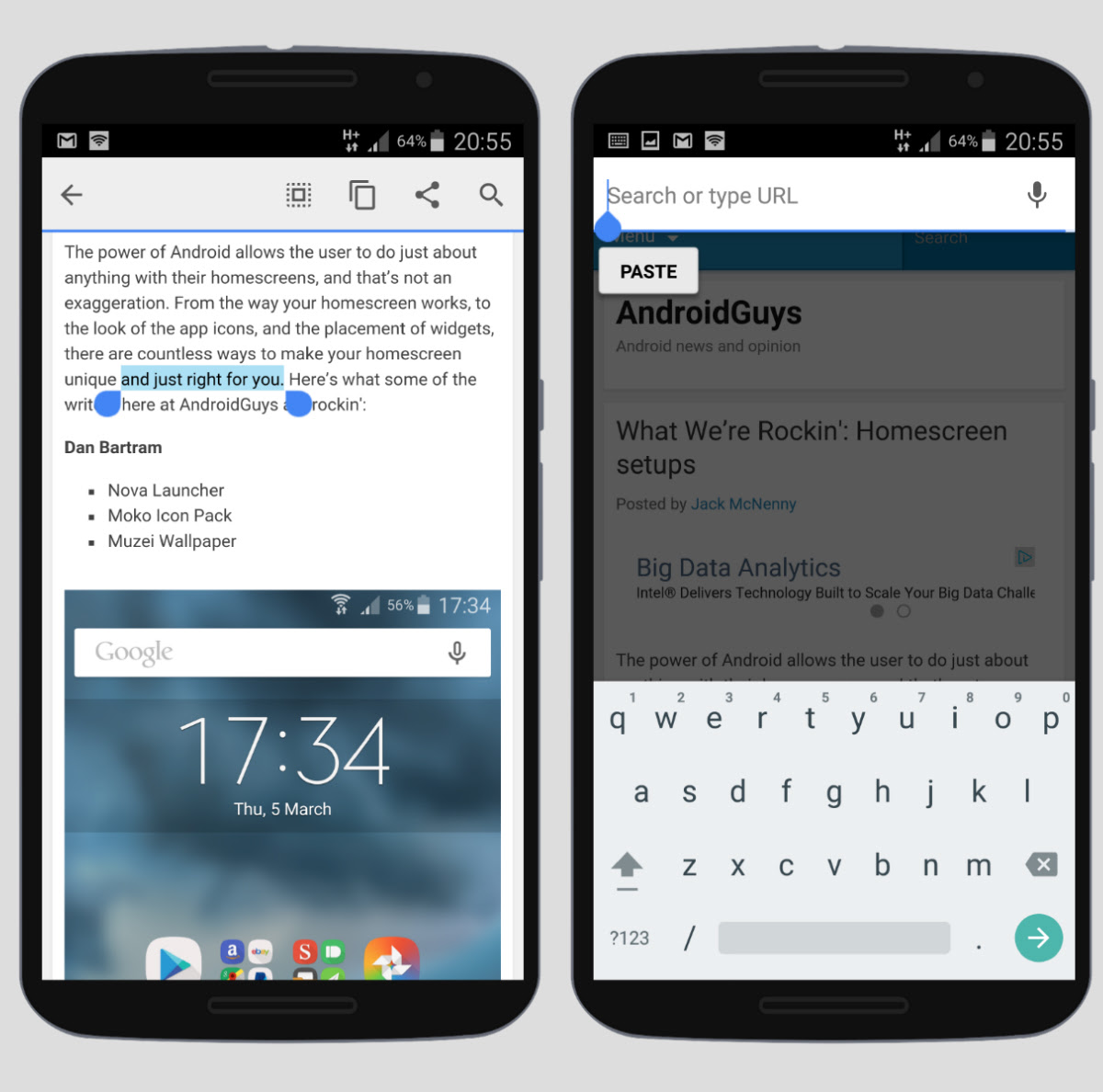 How to use copy and paste Android 101