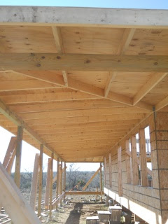 Porch Rafters Plywood Complete Bottom Long View
