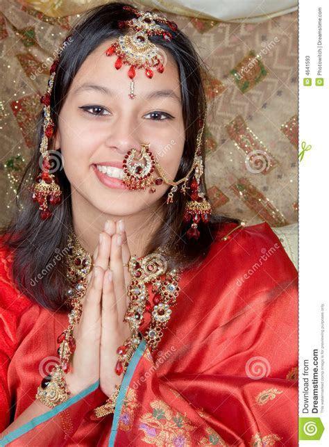 Namaste With A Smile Stock Photos   Image: 4641593