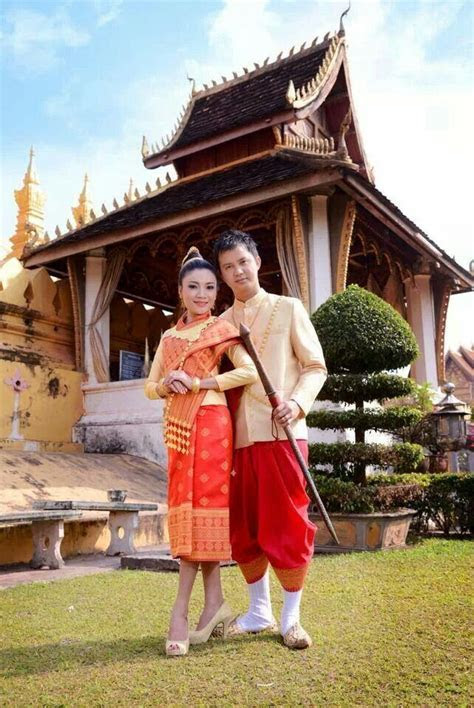 Lao traditional clothes   Traditional Lao Wedding/Clothing