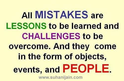 Thought For The Dayall Mistakes Are Lesson Daily Inspirations For