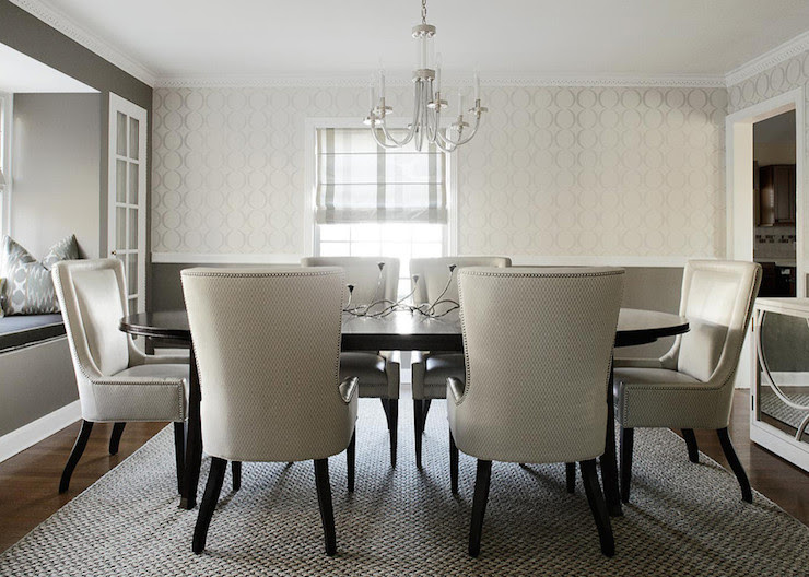 White and Gray Dining Room - Contemporary - dining room - Benjamin ...