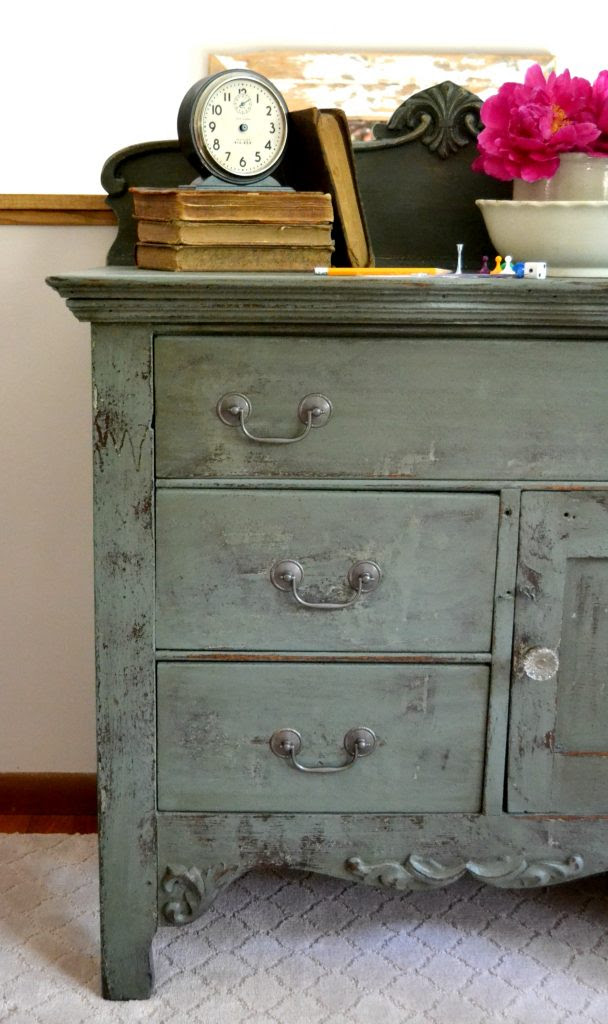 Cabinet Makeover With Stain Over Paint - My Creative Days