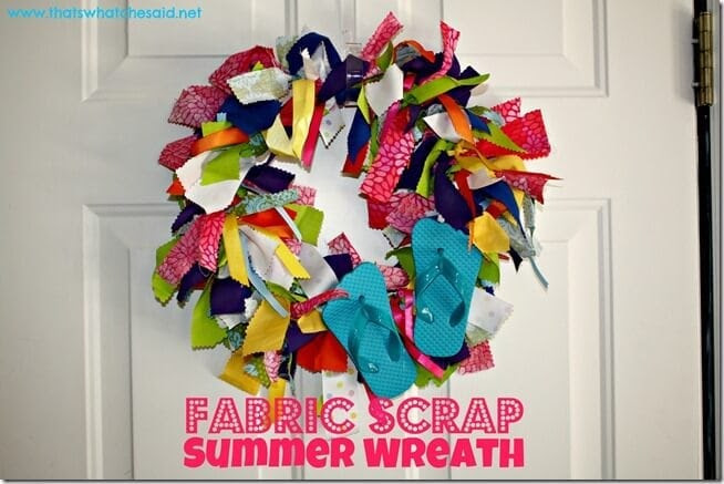 Fabric Scrap Summer Wreath