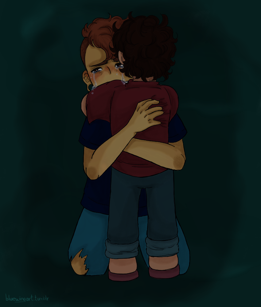 Lars is scared. Very scared, so much that he can not react…      And that its okay.     Steven is scared to. Very scared, so much he does not know what do…     And that's its okay too.     Because they are humans, after all