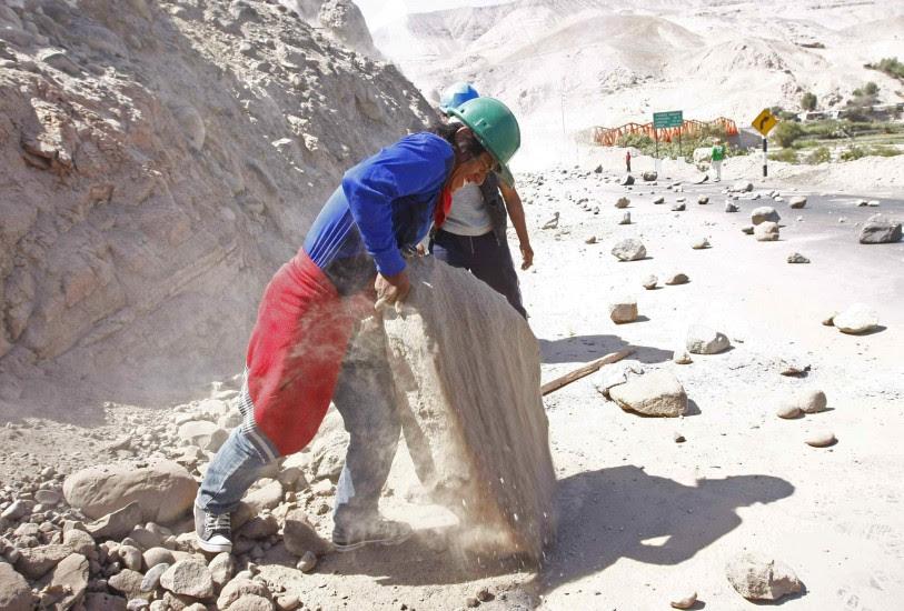 Huelga de mineros en Perú