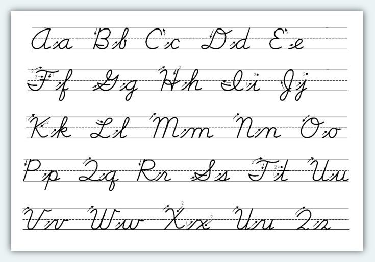 1000+ images about Cursive on Pinterest | Handwriting worksheets ...
