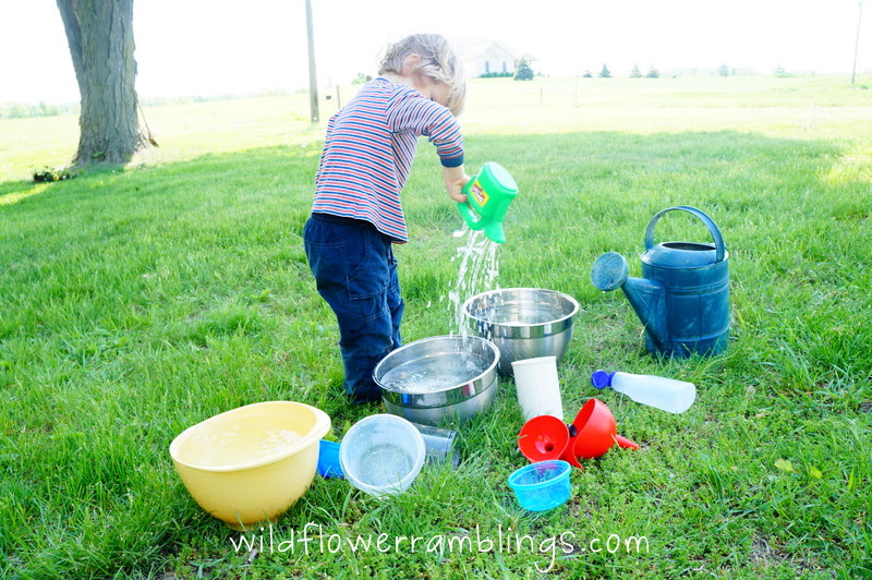Outdoor Water Play is Learning Time