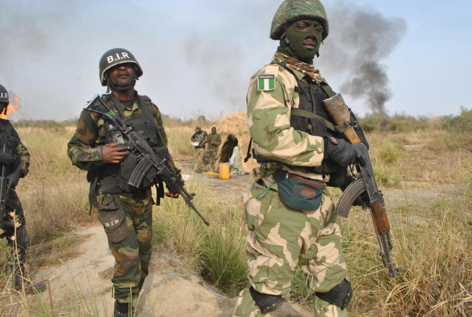 Nigerian troops are fighting jihadist insurgency in the northeastern part of Nigeria.
