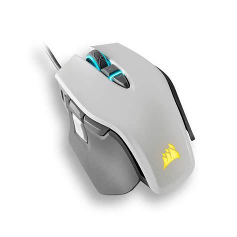 mouse gamer corsair  rgb elite ajustable blanco speed