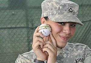 Young GI models a 'stress ball' at Guantanamo....