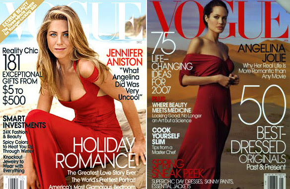 And that was the January Vogue cover with Angelina Jolie.