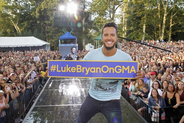 Image result for luke bryan gma