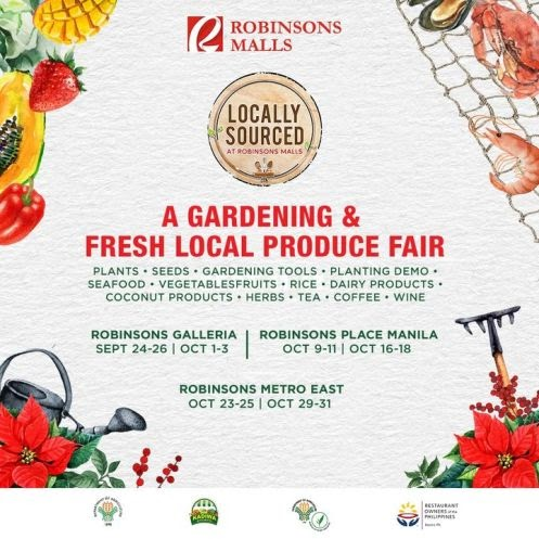 Get ready for more gardening goodies, planting demos, and delicious food because Locally Sourced is back at Robinsons Malls