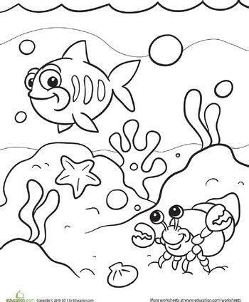 sea coloring page coloring  kids  read