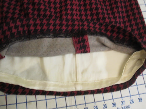 Hem Lace and Lining French Seams