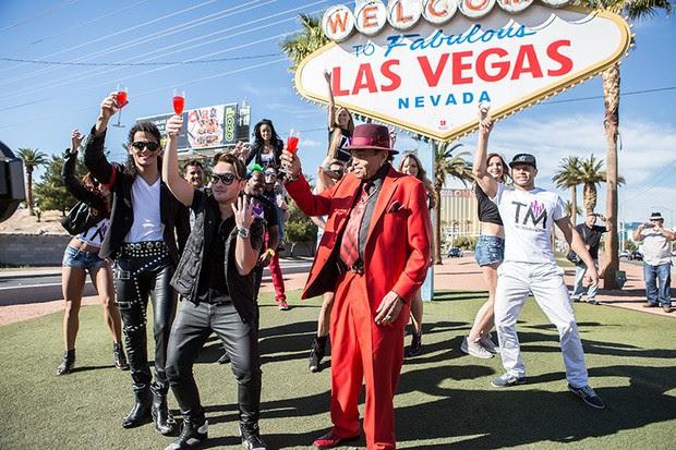 Thiago Matheus grava clipe em Las Vegas e Los Angeles (Foto: Fábio Nunes)