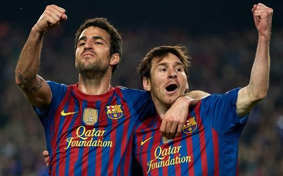 Cesc Fabregas, Lionel Messi, Barcelona