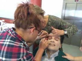 Maquillatge dels actors / Font: Escenaris Especials