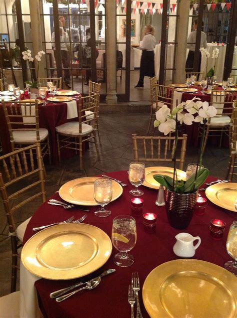 Elegant Christmas   Orchid centerpieces, Gold chargers and