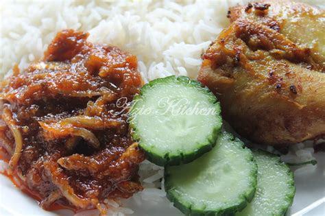 nasi lemak  ayam goreng berempah azie kitchen