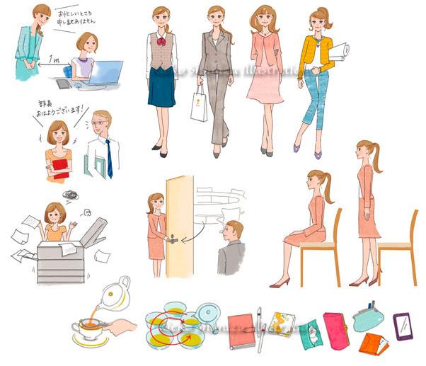 清水利江子イラストレーション 女性向けのイラストを雑誌書籍web等