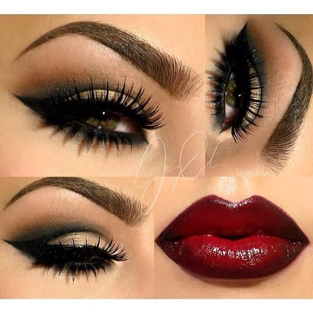 .@vegas_nay | STUNNING EYES & LIPS by @makeupbyjcole️ EYES: Smashbox Full Exposure pale... | Webstagram