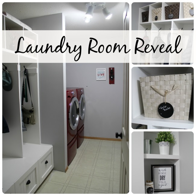 Laundry Room Reveal at www.joyinourhome.com